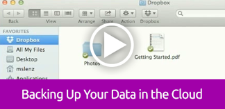 Click to play tutorial on Backing Up Your Data in the Cloud