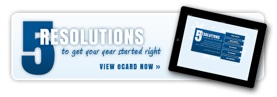 5 Resolutions to Get Your Year Started Right - View eCard Now