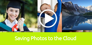 Click to play tutorial on Saving Photos to the Cloud