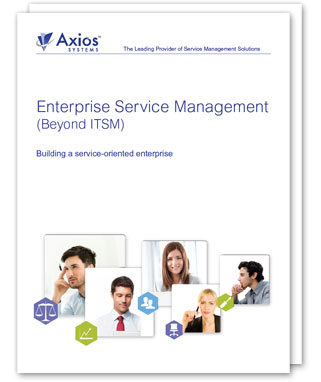 Enterprise Service Management - The opportunity for IT
