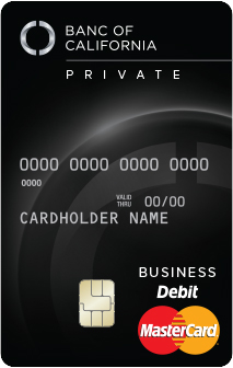 Banc of California Private Bank World Debit MasterCard