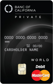 Banc of California Private Bank Business Debit MasterCard