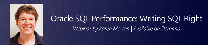 Oracle SQL Performance: Writing SQL Right