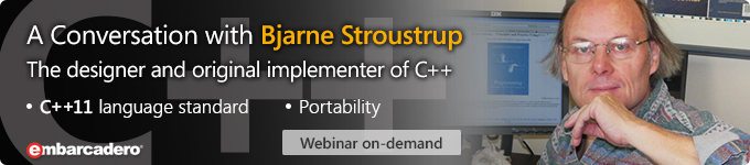 A Conversation with the C++ language designer, Bjarne Stroustrup - Webinar On-Demand