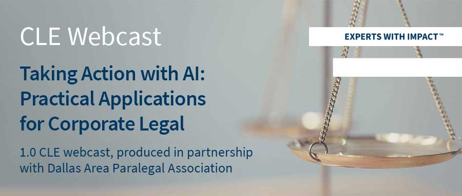 Taking Action with AI - Practical Applications for Corporate Legal