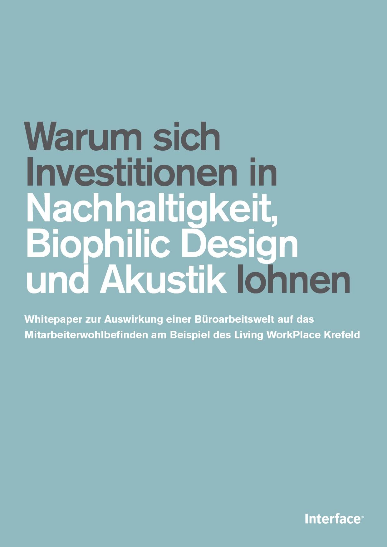 Studie: Warum sich Investitionen in Nachhaltigkeit, Biophilic Design und Akustik lohnen