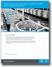 Características que debe tener un sistema de ERP para la industria automotriz
