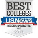 U.S. News Best Colleges 2013 Logo