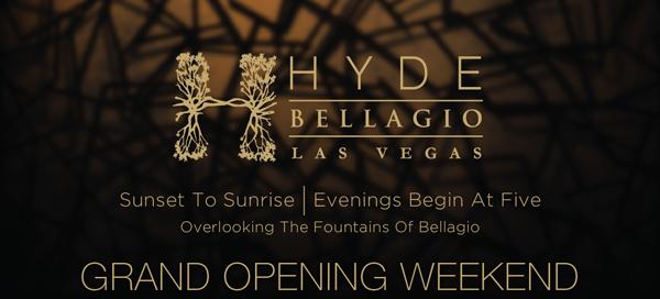 Hyde Bellagio Grand Opening Weekend