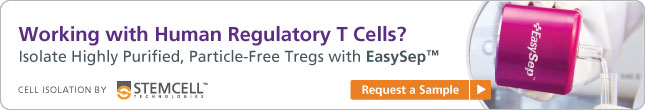 Isolate particle-free human CD4+CD127lowCD25+ regulatory T cells (Tregs) in less than one hour. Request a sample today.