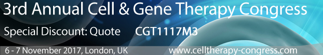 3rd Annual Cell & Gene Therapy Congress - Special Discount Code: CGT1117M3