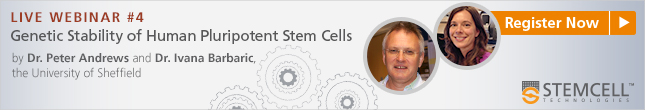 Register Now: Live Webinar by Dr. Peter Andrews and Dr. Ivana Barbaric on Genetic Stability of Human Pluripotent Stem Cells