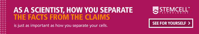 As a scientist, how you separate the facts from the claims is just as important as how you separate your cells. See for yourself.