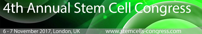 4th Annual Stem Cell Congress, 6-7 November, 2017, London, UK