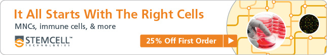 25% Off First Order: MNCs, immune cells and more! Expires October 31st, 2014