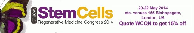 Attend the 9th Annual World Stem Cells & Regenerative Medicine Congress in London!