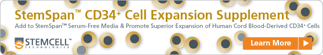 Get More of the Cells You Need with StemSpan™ CD34+ Cell Expansion Supplement and StemSpan™ SFEM