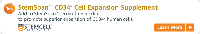 Learn more: StemSpan CD34+ Cell Expansion Supplement