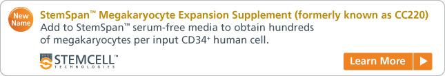 Learn more: StemSpan™ Megakaryocyte Expansion Supplement