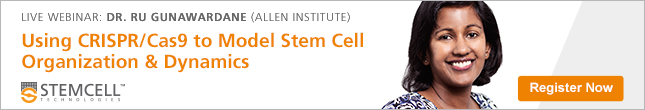 Live Webinar by Allen Institute: Using CRISPR/Cas9 to Model Stem Cell Organization and Dynamics