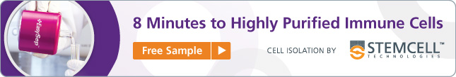 Request a Sample: 8 minutes to highly purified immune cells with EasySep™.