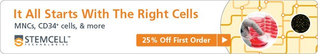 Alt-Text: ​25% Off First Order: MNCs, CD34+ cells and more! Expires October 31st, 2014