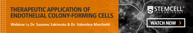 View-On-Demand Webinar: Therapeutic Application of Endothelial Colony-Forming Cells. Watch Now.