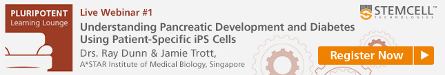 Register Now: Webinar on Using iPSCs for Studying Pancreatic Development and Disease