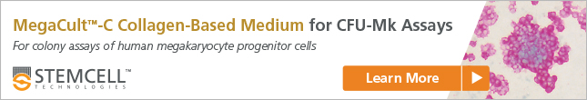Learn more about MegaCult™-C collagen-based medium for colony-forming unit - megakaryocyte (CFU-Mk) assays of human or mouse hematopoietic progenitor cells.