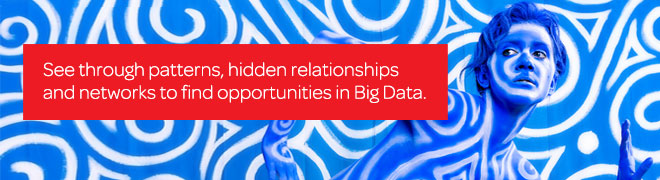 See through patterns, hidden relationships and networks to find opportunities in Big Data.
