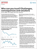 Who can you trust? Challenges, consequences and solustions