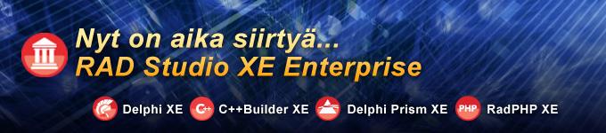Nyt on aika siirtyä RAD Studio XE Enterprise