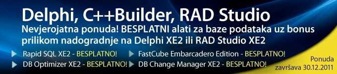 Nevjerojatna ponuda! Nadogradite na Delphi XE2 i dobit ćete besplatne database alate i još mnogo više!
