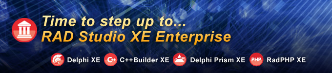 Time to step up to RAD Studio XE Enterprise
