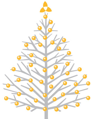Yellow Christmas tree