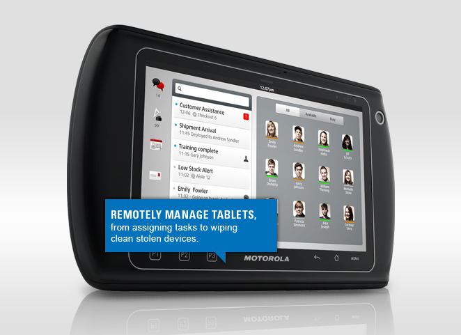 Remotely manage tablets