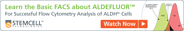Free Webinar: A Guide To Successful Flow Cytometry Analysis of ALDHbr Cells - Watch Now.