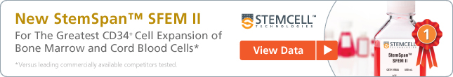 New StemSpan(TM) SFEM II - for optimal CD34+ cell expansion of bone marrow and cord blood cells