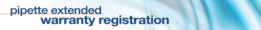 Pipette Warranty Registration Banner