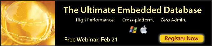 The Ultimate Embedded Database - Free Webinar, Feb 21