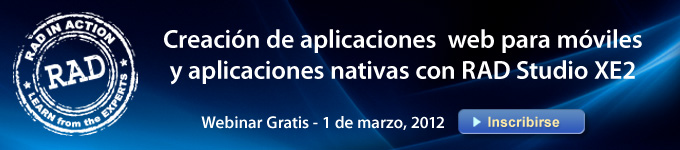 Creacion de aplicaciones web para moviles y aplicaciones nativas can RAD Studio XE2