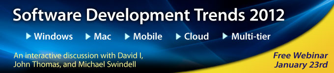 Software Development Trends 2012 Webinar - January 23rd