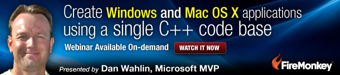 Create Windows and Mac OS X applications using a single C++ codebase - Watch Now