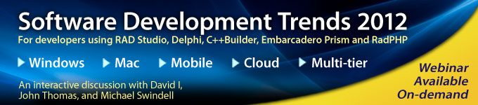 On-demand webinar replay: Software Development Trends 2012