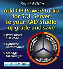 Add DB PowerStudio for SQL Server to your RAD Studio upgrade and save