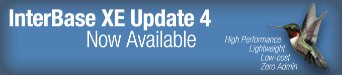 InterBase XE Update 4 Upgrade Now Available
