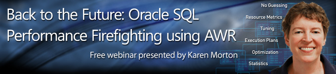 Oracle SQL Performance Firefighting using AWR Webinar