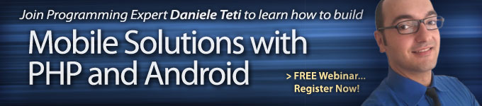 Join Daniele Teti to learn how to build Mobile Solutions with PHP and Andriod