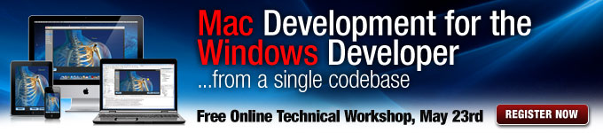 Mac Development for the Windows Developer - Free Online Technical Workshop, May 23rd - Register Now
