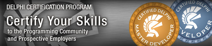 Delphi Certification Program - Certify Your Skills